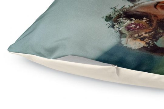 custom duvet cover color detail plus zipper natural back