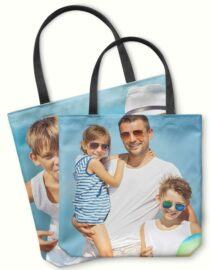 Custom Printed Tote Bag with family photo from Goodprints