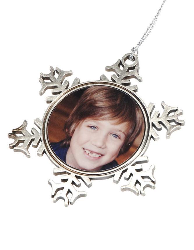 Custom Metal Snowflake Ornament 4