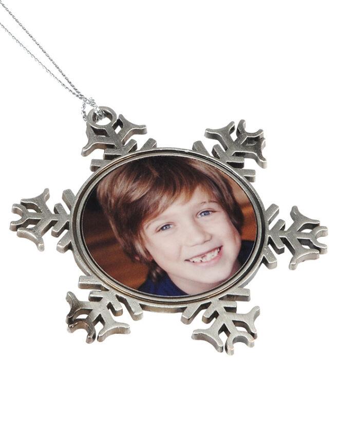 Custom Metal Snowflake Ornament 3