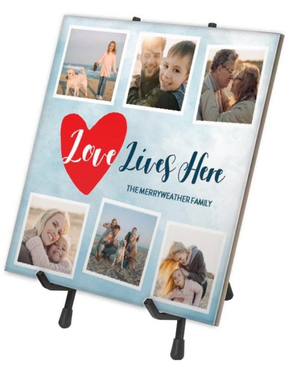 Love Lives Here Photo Tile