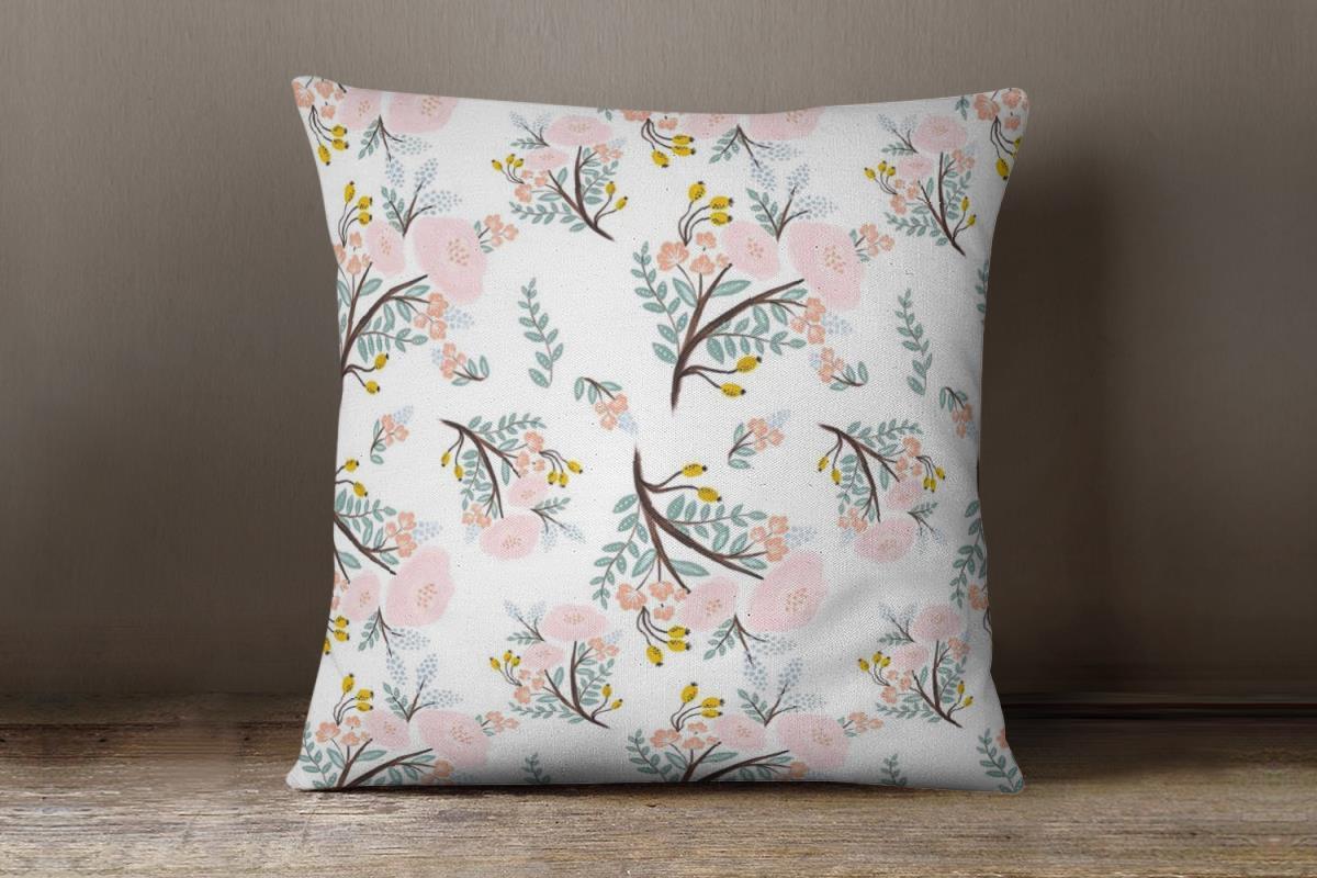 Spring Flowers Custom Art Pillow
