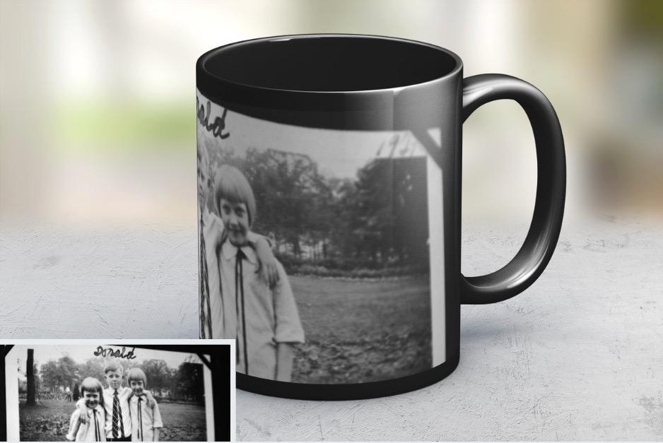 old photo mug