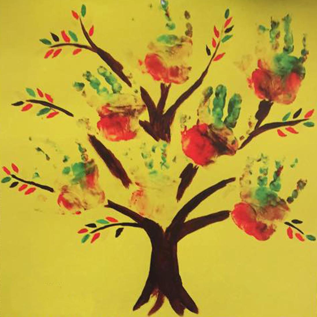 autumn tree hands