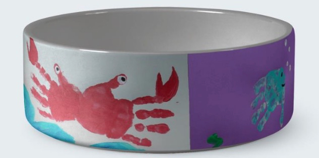 custom photo pet bowl