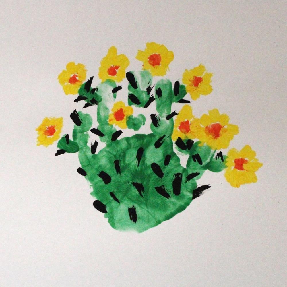 cactus hand painting