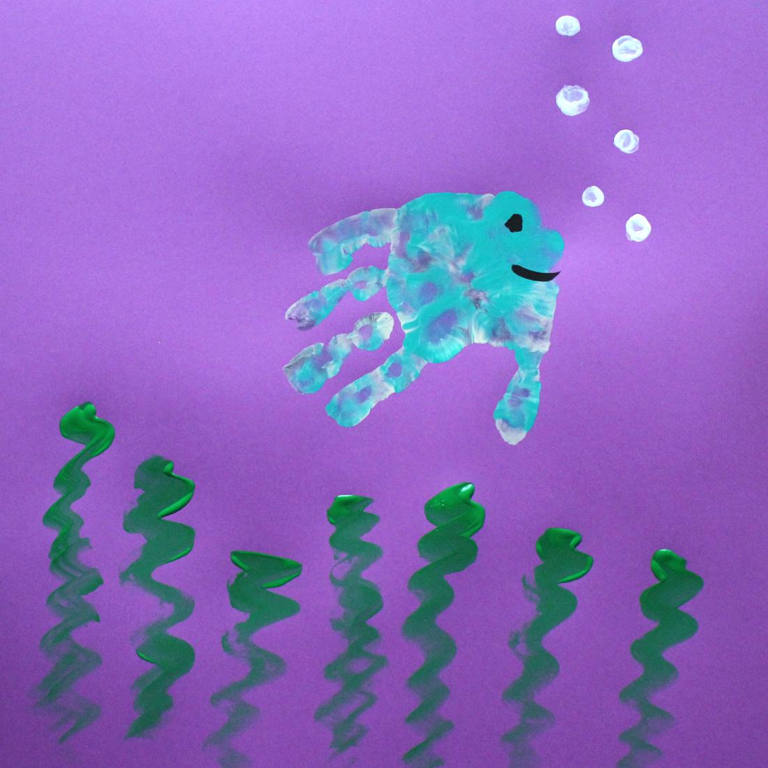 fish hand painting
