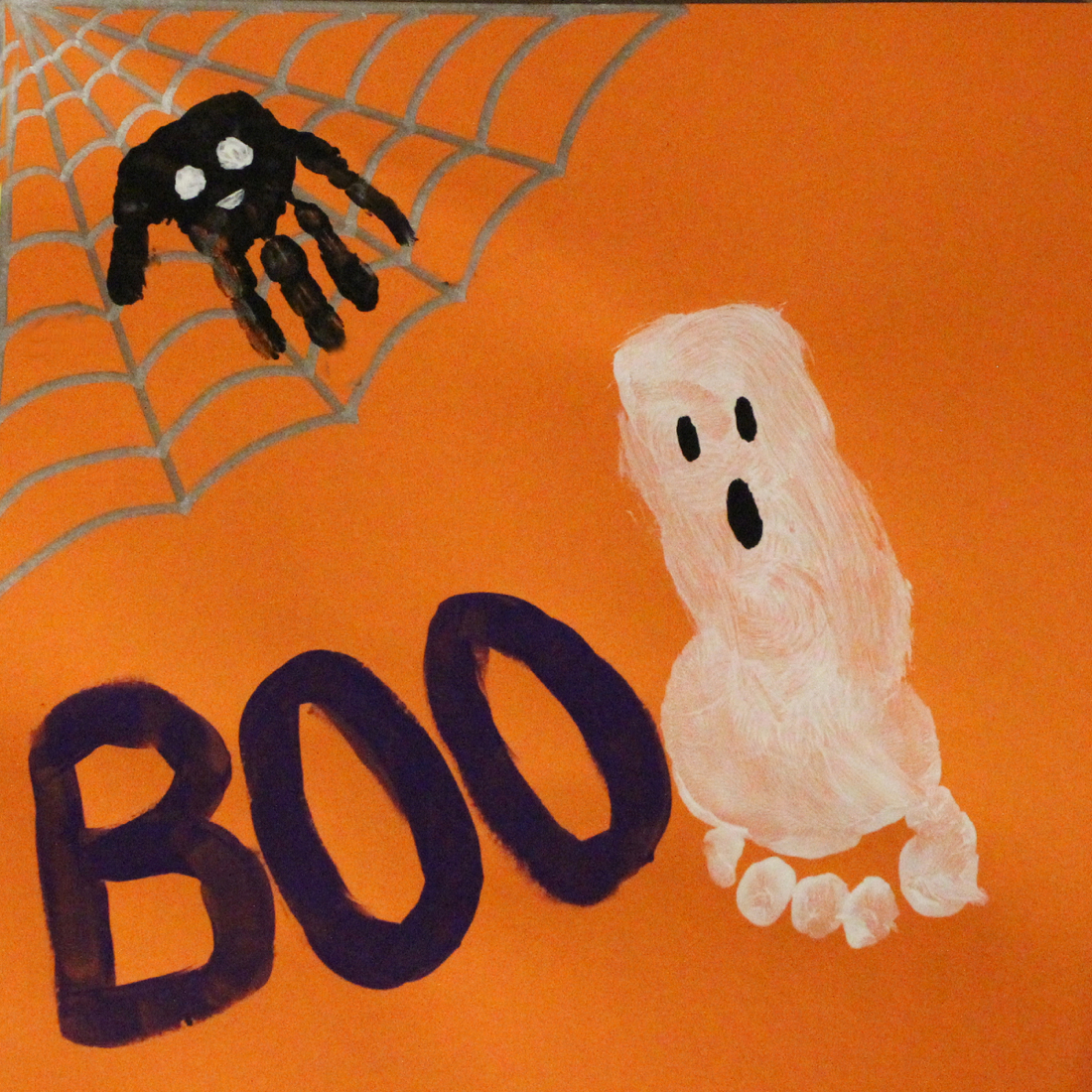 halloween handprint