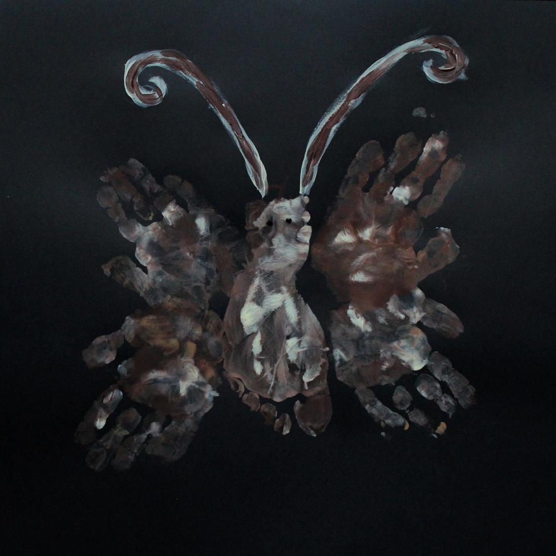 moth handpaint art