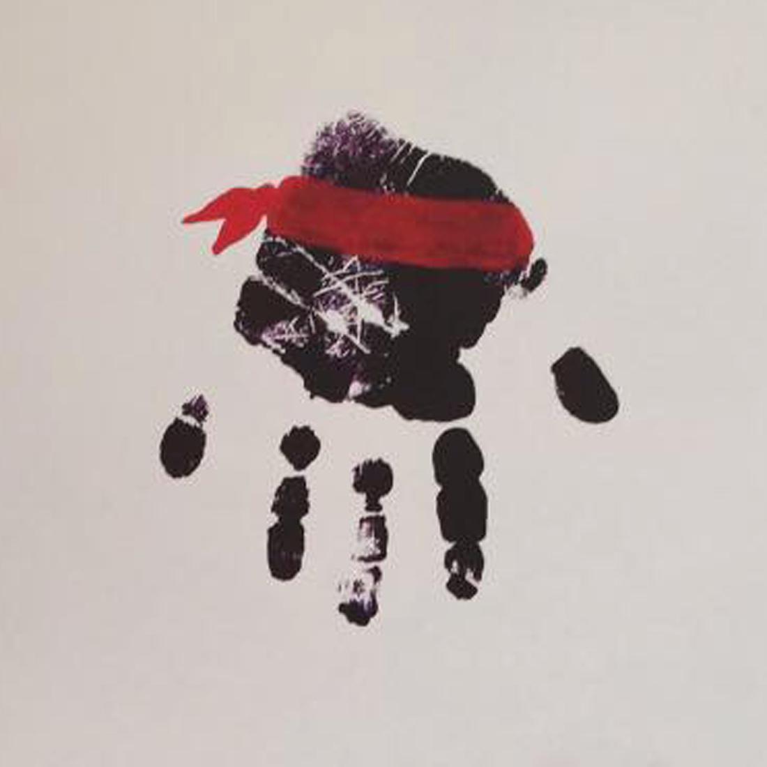 ninja handprint painting