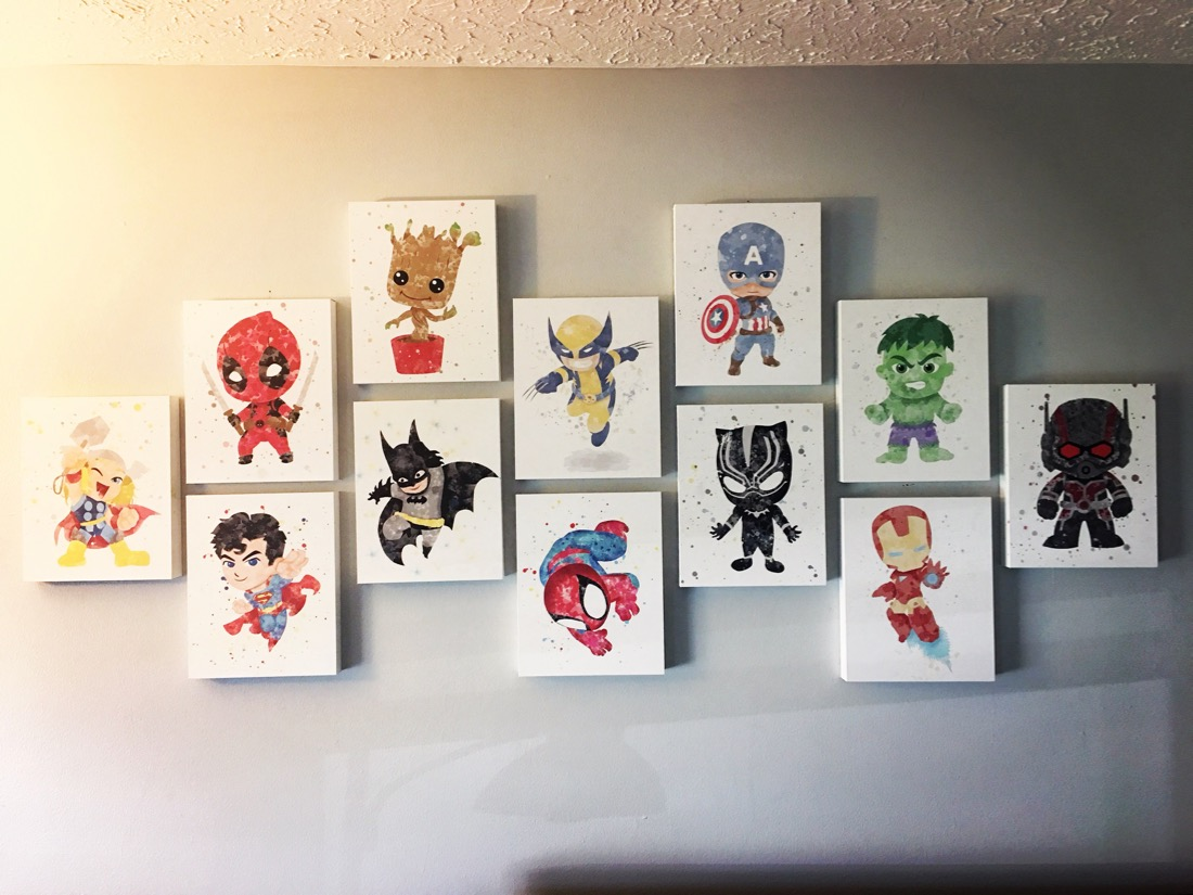 superhero prints on canvas
