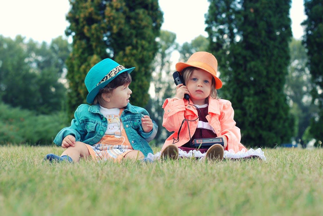 colorful kids clothing portrait