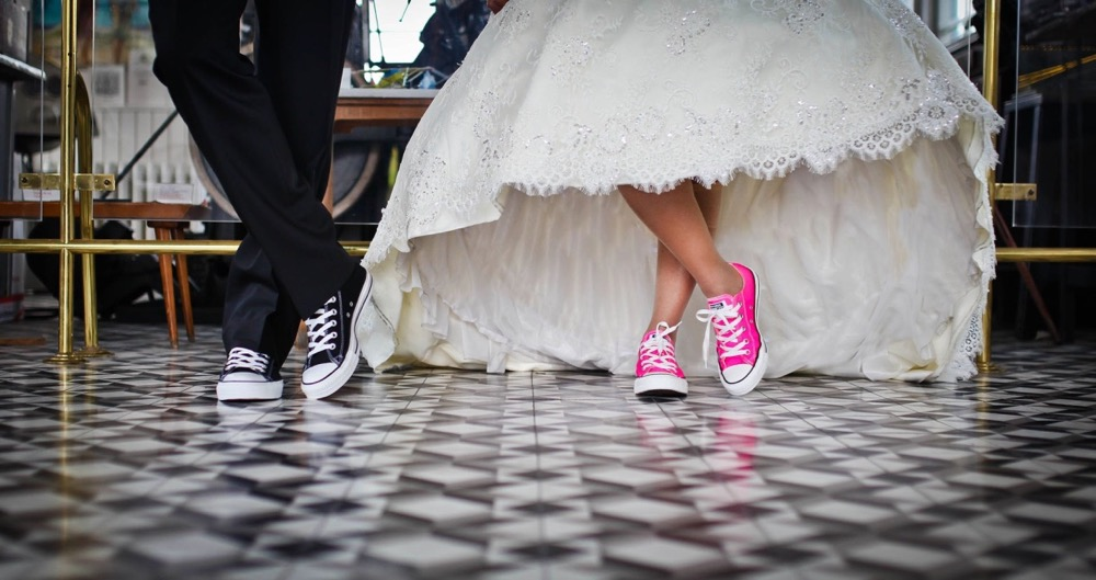 converse shoes wedding