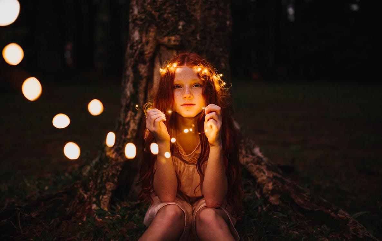 creative lighting portrait
