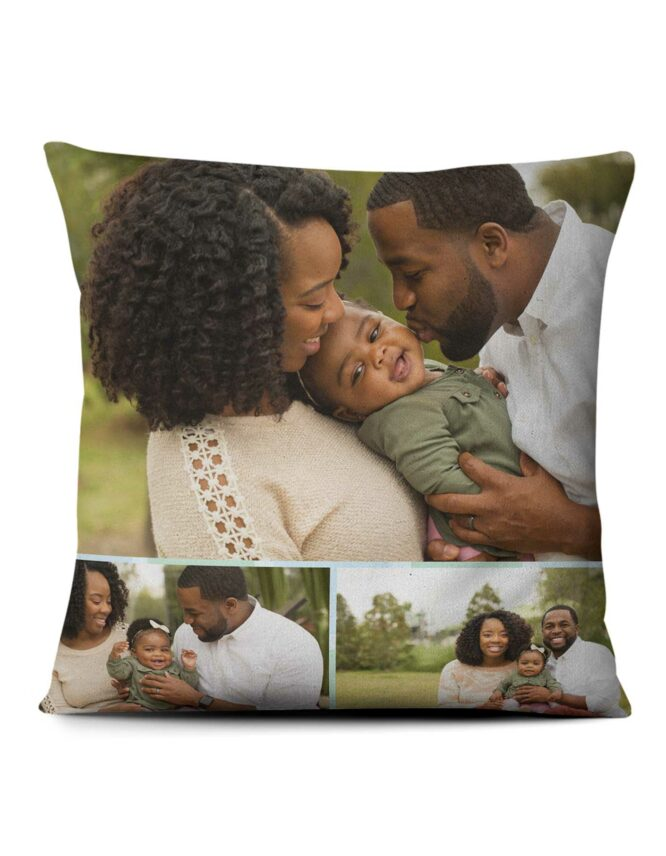 family photo pillow with custom layout