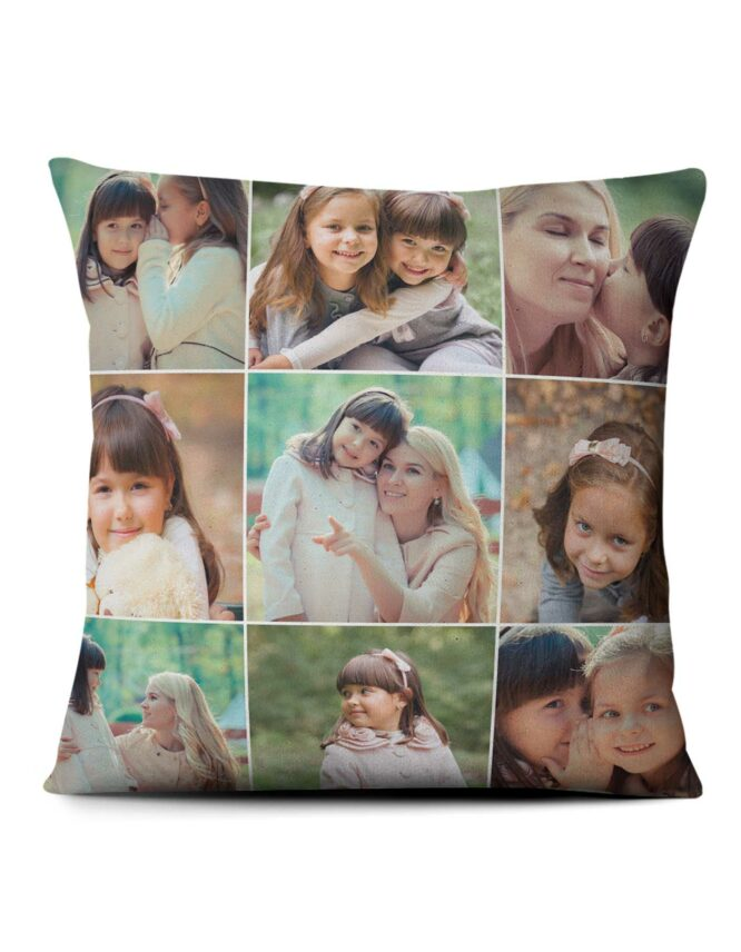 custom photo mosaic personalized photo pillow