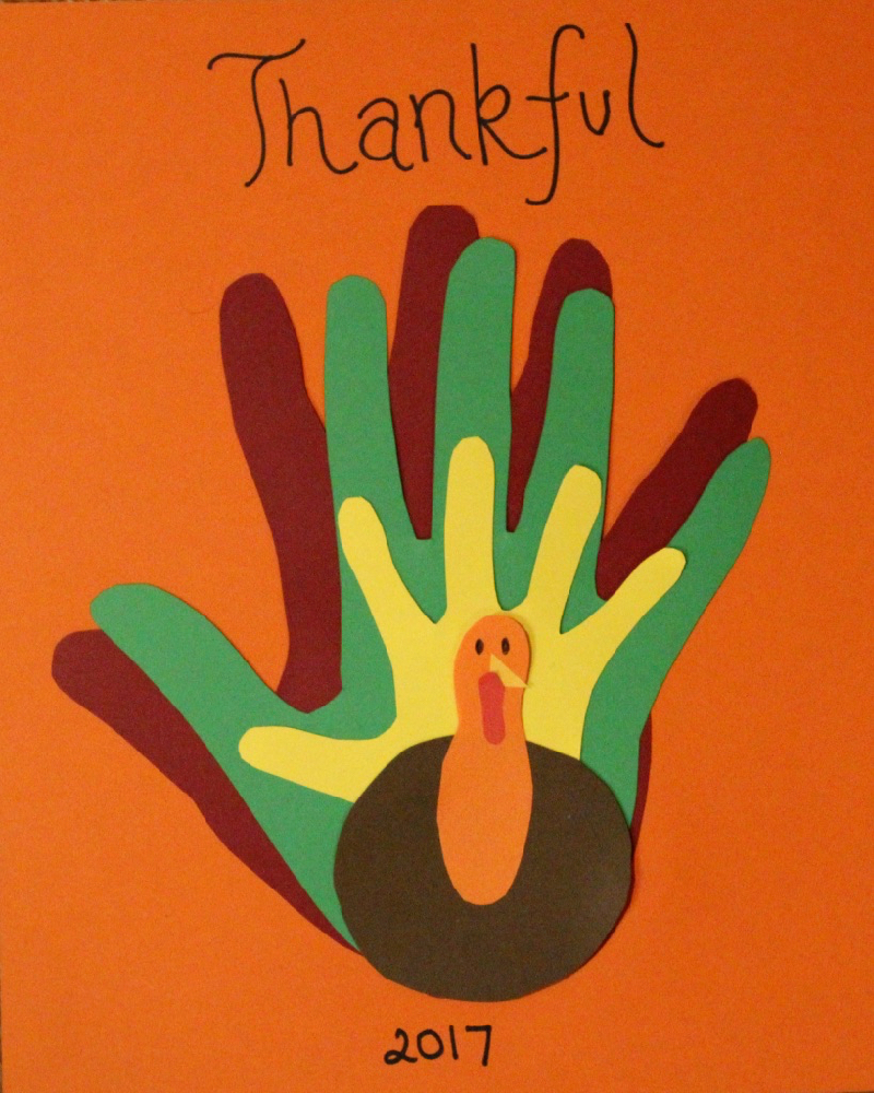 thanksgiving handprint art
