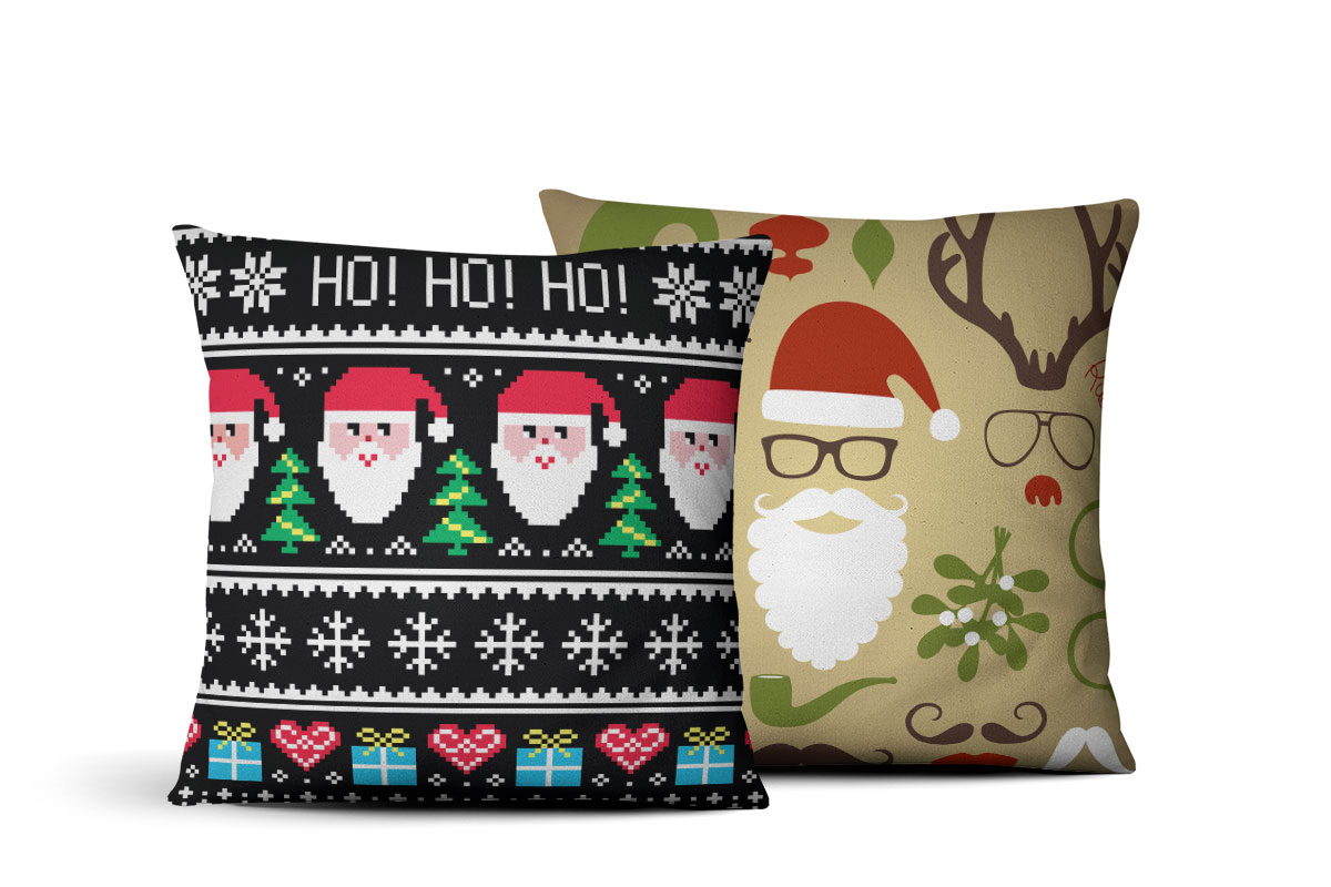 ugly sweater custom photo pillows