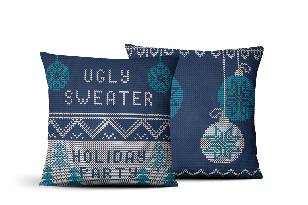 ugly sweater pillow