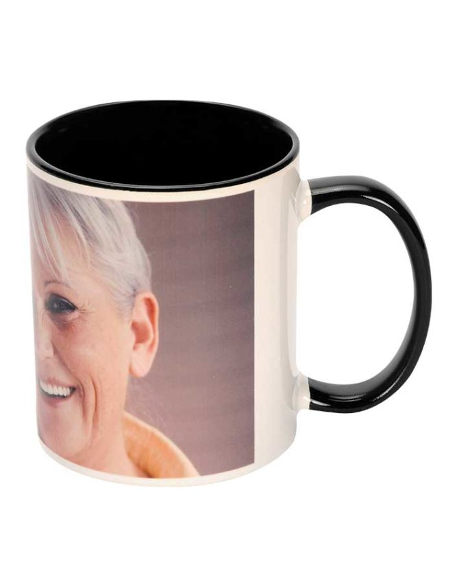 11oz colorful black photo mug