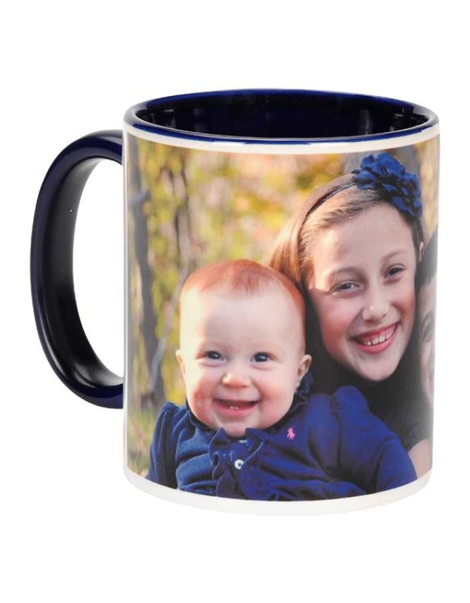 11oz dark blue photo mug