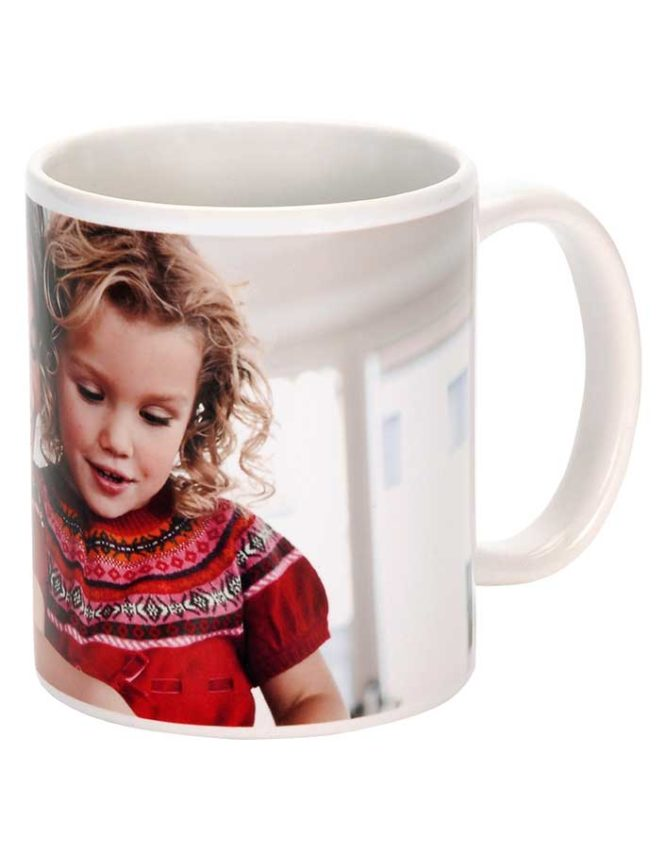 11oz white ceramic photo mug