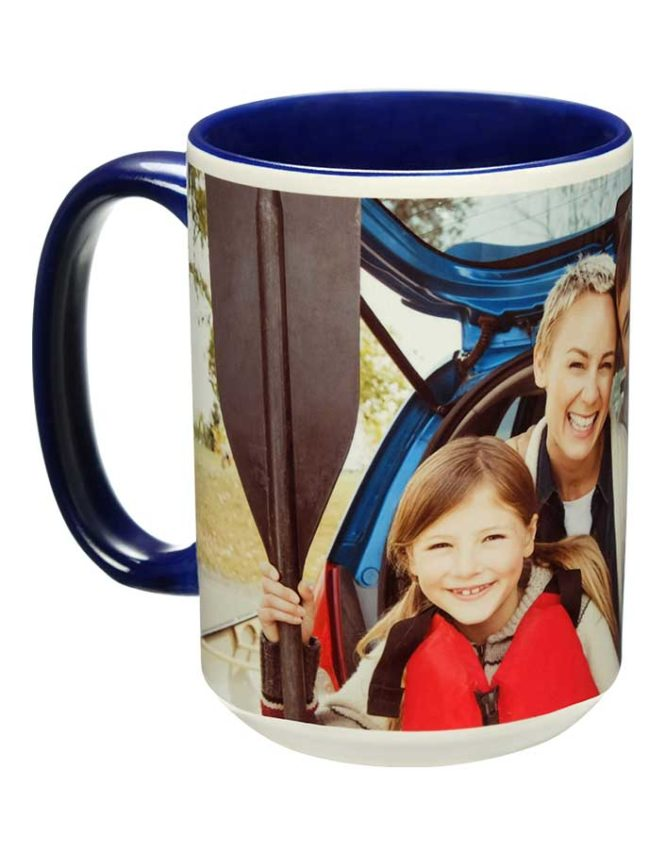 15oz dark blue photo mug