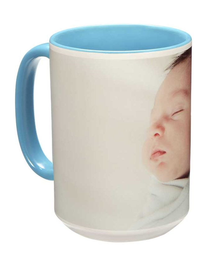 15oz light blue photo mug