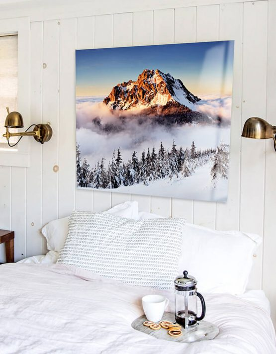 Stunning HD Metal Prints Over Bed