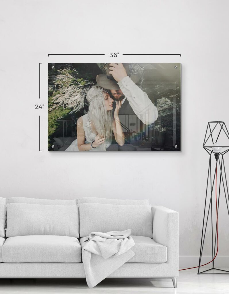 HD Acrylic Print of Wedding Photos on Metal Prints