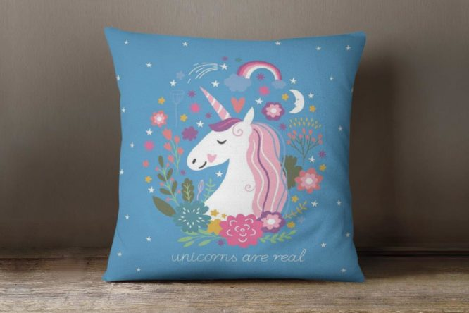 Blue Unicorns Are Real Accent Pillow