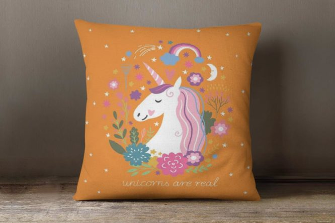 Orange Unicorns Are Real Accent Pillow