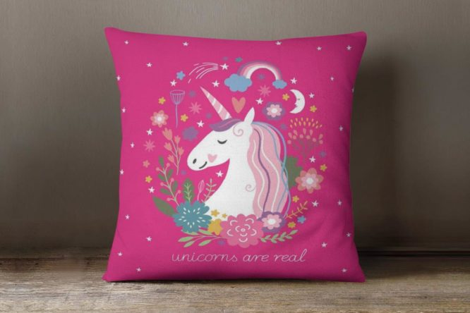 Pink Unicorns Are Real Accent Pillow