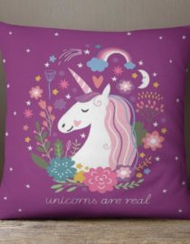 Purple Unicorns Are Real Accent Pillow