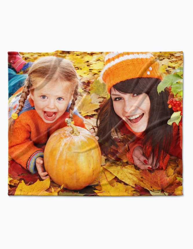 fall in love with fall photo blanket