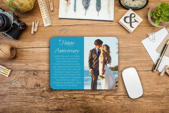 wedding anniversary gift photo mousepad