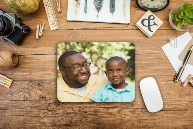 father's day photo mouse pad by pixypics