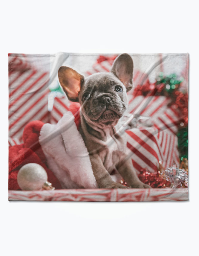 great custom christmas photo blanket