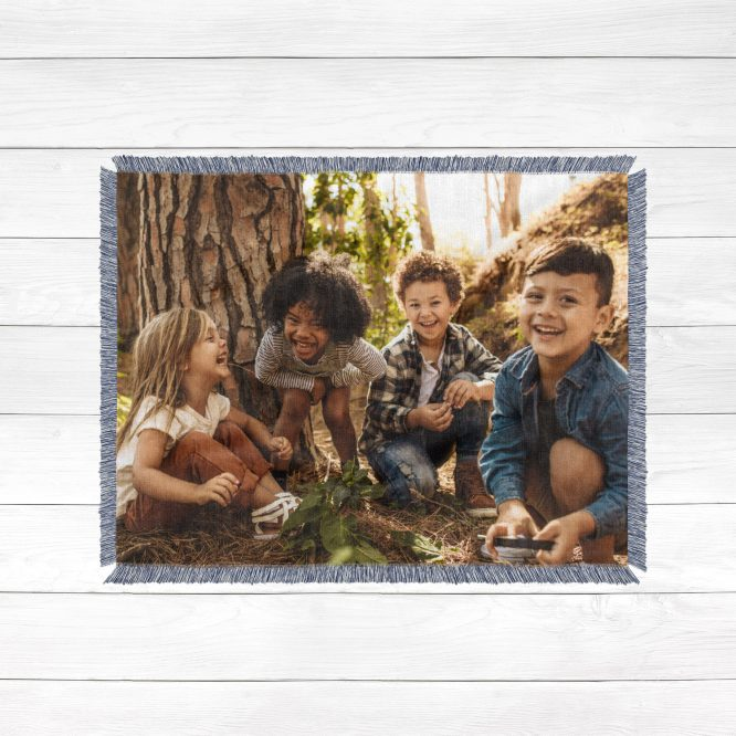 Custom Woven Photo Blanket Kids