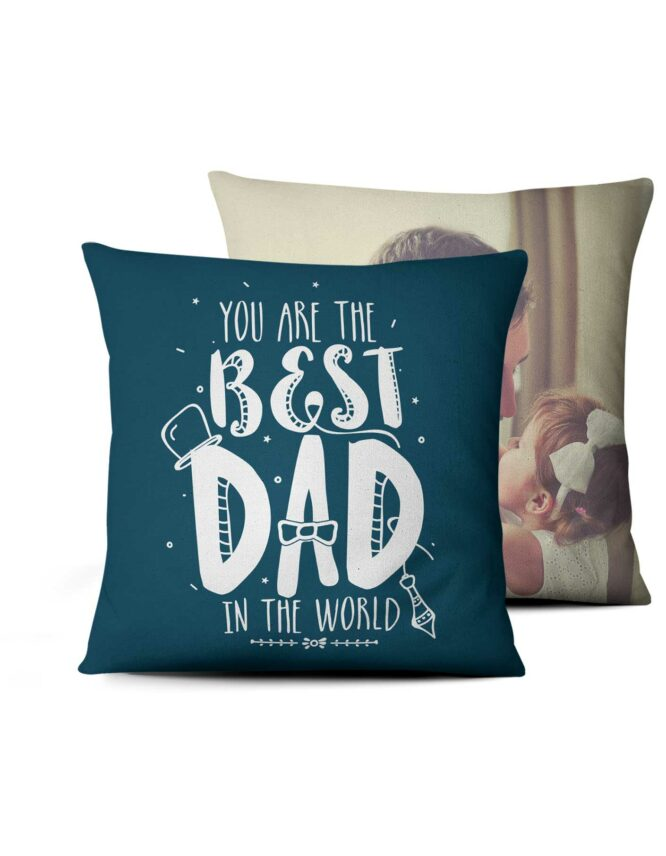 best dad in the world double sided photo pillow