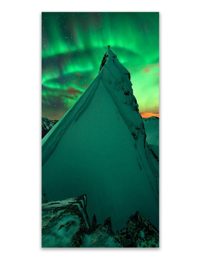northern lights photo card print