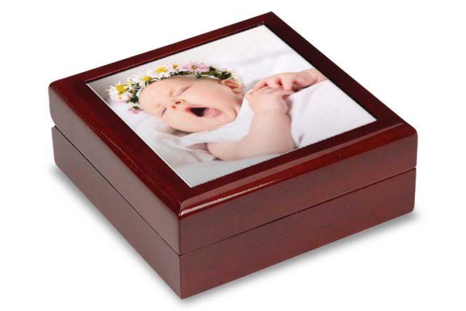baby photo keepsake box