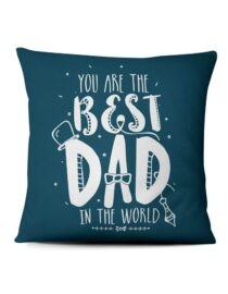 you are the best dad in the world custom photo pillow