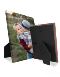 Easel Back Canvas Print with family photo from Goodprints