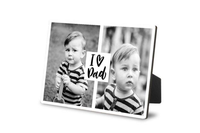 """""""I Heart Dad"""" Desktop Photo Plaques 1"""