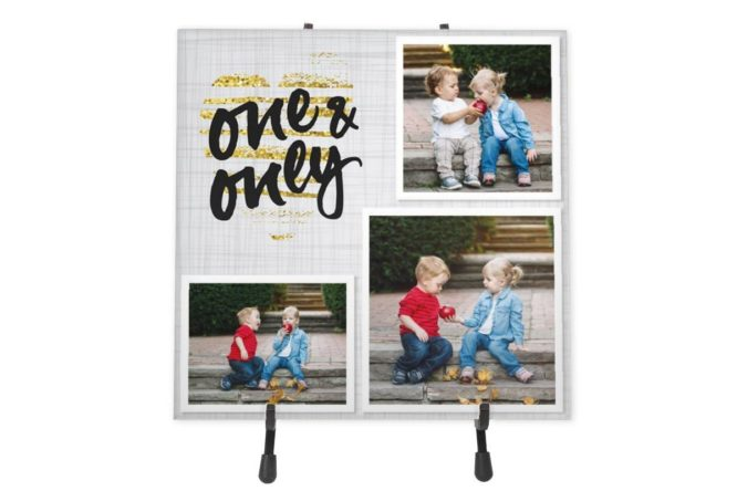 """My One And Only"" Personalized Ceramic Photo Tile 1"