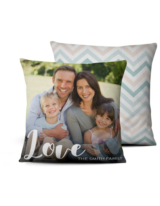 custom photo pillow with family photo