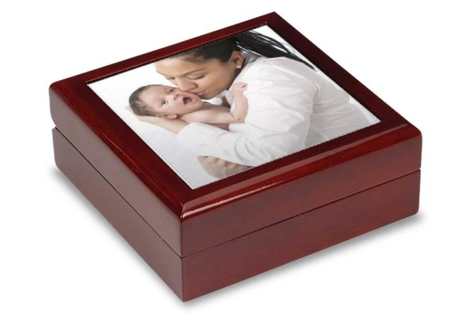 beautiful photo keepsake box