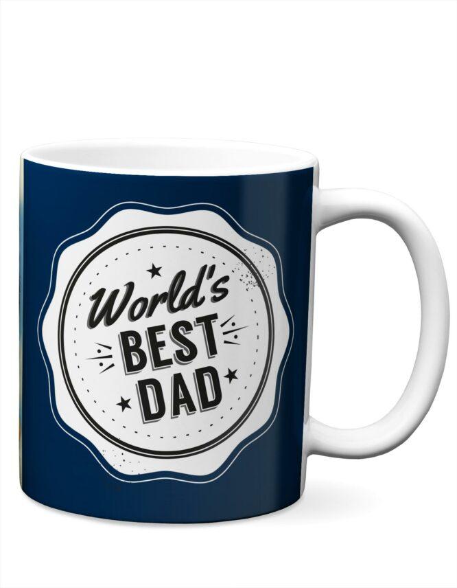 worlds best dad photo mug