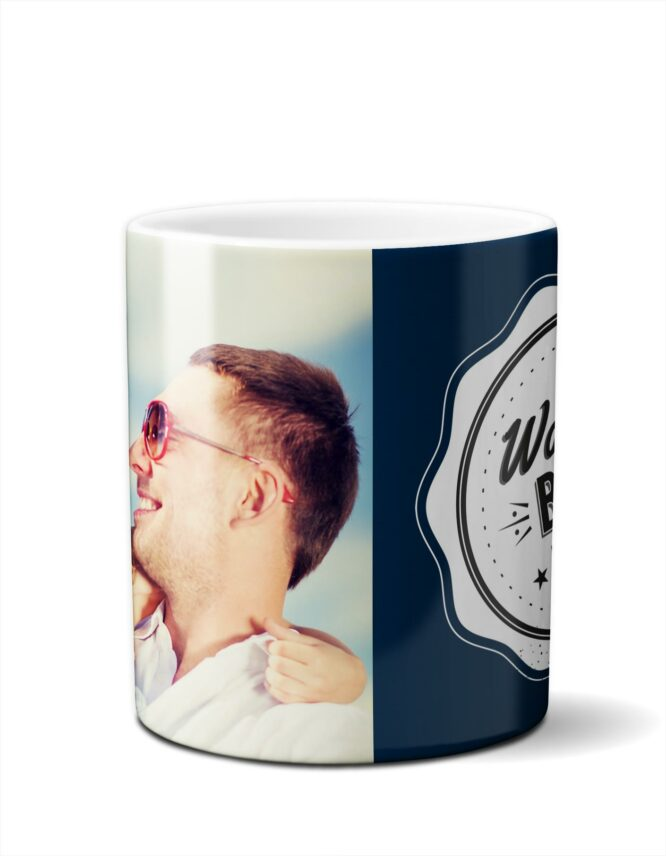 """World's Best Dad"" Custom Photo Mugs 1"